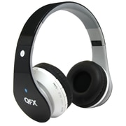 QFX H-251BT Folding Bluetooth Stereo On-Ear Headphone, Black