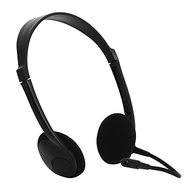 Zenex® Stereo Headphones With Volume Control and Microphone