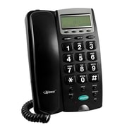 Zenex 93587449M Single Line Corded 1-Handset Landline Telephone, Black