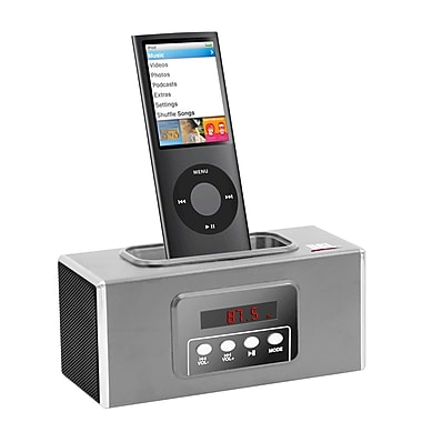 Zenex® 93587465M Docking and Charging Speaker With Radio/Clock