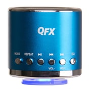 QFX® CS-59US 3 W Portable Multimedia Speaker With USB/Micro SD Port/FM Radio, Blue