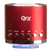 QFX® CS-59US 3 W Portable Multimedia Speaker With USB/Micro SD Port/FM Radio, Red