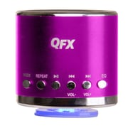 QFX® CS-59US 3 W Portable Multimedia Speaker With USB/Micro SD Port/FM Radio, Pink