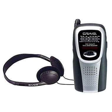 Craig® CS2500 AM/FM Pocket Radio With Speaker and Headphones