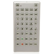 QFX® REM-114 8 - 1 Jumbo Universal Remote Control, Silver