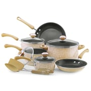 Paula Deen® 12 Piece Porcelain Cookware Set, Oatmeal Speckle