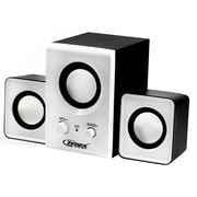 Zenex® 93588024M 2.1 Channel USB Power Speaker System, White