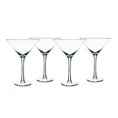 Isaac Mizrahi Western Isle 9 oz. 4 Piece Martini Glass Set