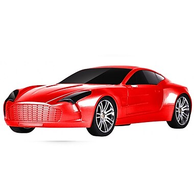 Supersonic® SC-1315 Portable Rechargeable Car Speaker With USB/Mini SD/Aux In/FM Radio, Red