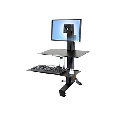 Ergotron® 33-350-200 WorkFit-S Sit-Stand Workstation For 24in. LCD Monitor