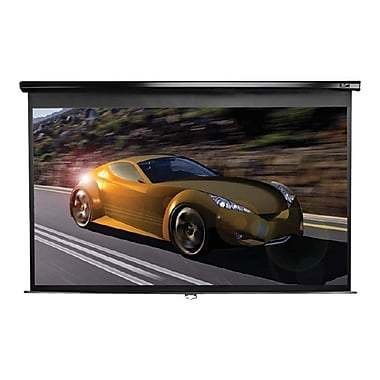 Elite Screens M135UWV2 135in. Pull Down Wall and Ceiling Projector Screen, Black Casing