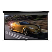"Elite Screens M135UWV2 135"" Pull Down Wall and Ceiling Projector Screen, Black Casing"