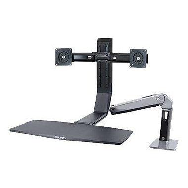 Ergotron WorkFit-A 24-312-026 Dual Sit-Stand Workstation for 24in. Monitor, Black