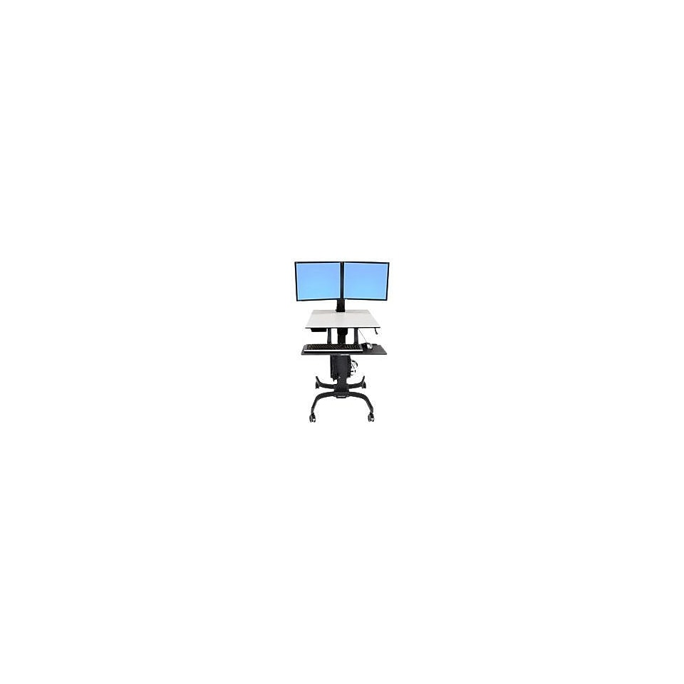 Ergotron WorkFit C Up To 32.5 lbs. 22 LCD Monitor Dual Sit Stand Workstation Computer Stand