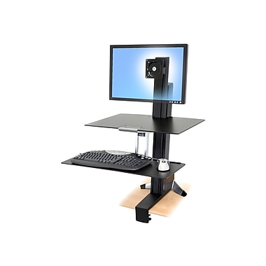 Ergotron® 33-351-200 WorkFit-S Sit-Stand Workstation For 30in. LCD Monitor
