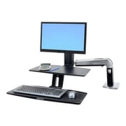 "Ergotron® WorkFit-A Single LD Stand With Keyboard Mounting Arm, Black, Fits Up to 24"" Display"