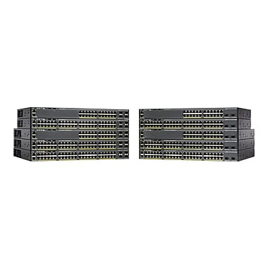 Cisco® Catalyst® 2960-X SFP+ Manageable Gigabit Ethernet Switch, 48 Ports