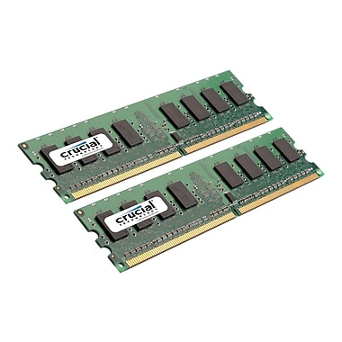 Crucial 4GB (2 x 2GB) DDR2 (240-Pin DIMM) DDR2 800 (PC2 6400) CL6 Desktop Memory Module