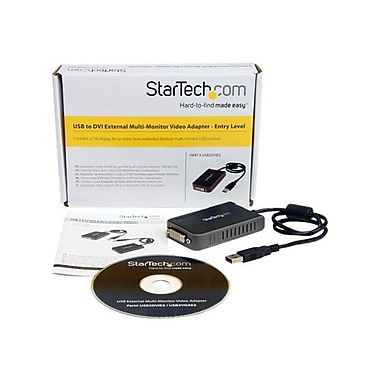Startech.com® USB to DVI External Dual or Multi Monitor Video Adapter, Black