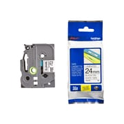 Brother® TZE 0.94(W) Label Tape, Black On White