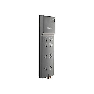 Belkin® BE108230-12 8-Outlets 3390 Joule Home/Office Surge Protector With 12' Cord