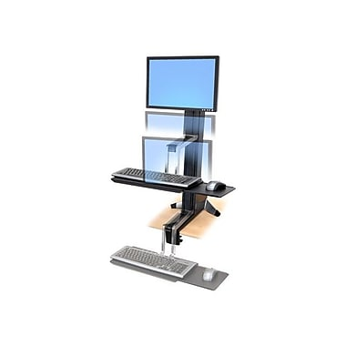 Ergotron® 33342200 WorkFit-S Sit-Stand Work Station, Up To 6 - 16 lbs.
