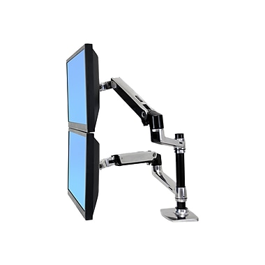 Ergotron® 45248026 Articulating Dual Stacking Arm, 40 lbs.