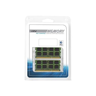 CrucialMD – Module de mémoire MAC DDR3 (SO-DIMM à 204 broches) DDR3 1600 (PC3 12800) de 16 Go (2 x 8 Go)