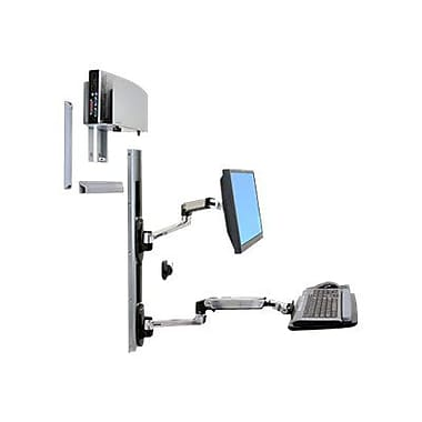 Ergotron® Healthcare 45247026 LX Wall Mount, Up To 20 lbs., Polished Aluminum