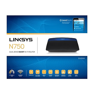 Linksys™ EA3500-NP Wireless N750 Db Router, 2.4/5 GHz