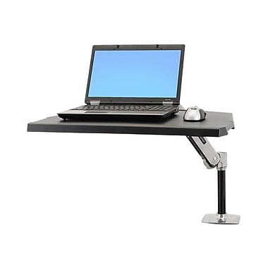 Ergotron® WorkFit-P Sit-Stand Workstation, Black