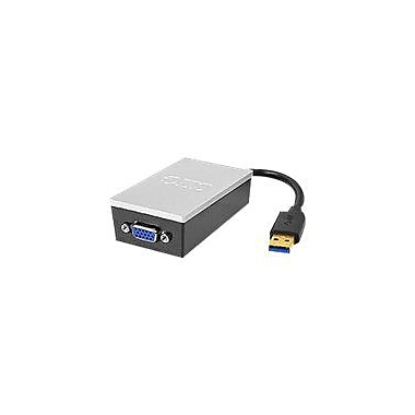 Siig® Type A USB 3.0 Male to HD-15 Female VGA Pro Adapter, Black/Silver