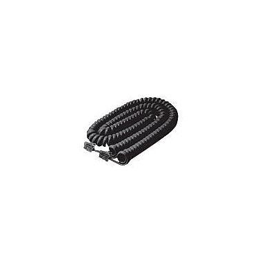 STEREN® 7' Coiled Phone Cord, Black