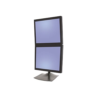 Ergotron DS100 33-091-200 Dual Display Vertical Desk Stand for 20