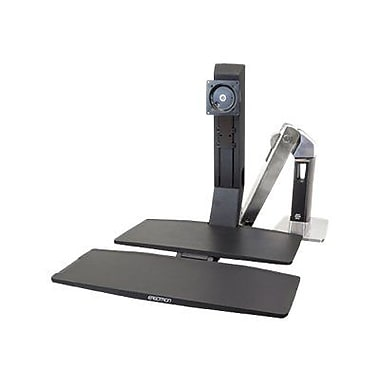 Ergotron® WorkFit single LD Monitor Stand With Worksurface+ For 24in. Monitor
