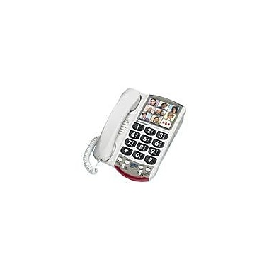 Clarity P300 Amplified Corded Office Telephone, White
