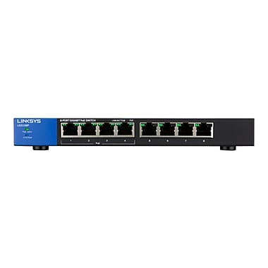 Linksys LGS108P Unmanaged Gigabit PoE Switch, 8 Ports