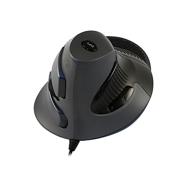 CST Vertical Ergonomic Mouse, Black/Gray