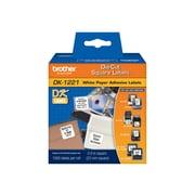 "Brother® DK Paper Label, 0.9""(W) x 0.9""(L), White"