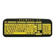 Ergoguys CD-1038 Ezsee Large Print Low Vision Keyboard With Low Profile Yellow Keys