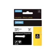 Dymo® RhinoPro 18483 0.5(W) Wire and Cable Label Tape, Black On White