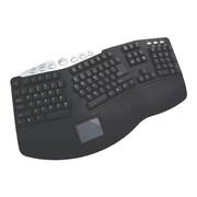 Adesso PCK-308B Wired Ergonomic Keyboard, Black/Gray