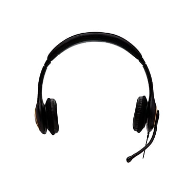 V7® HU511-2NP USB Digital Headset With Noise Cancelling Microphone, Black