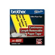 "Brother® P-Touch Removable Paper Tape, 2.44""(W) x 100'(L), Black On Yellow"