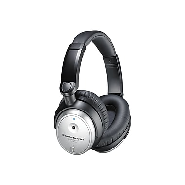 Audio-Technica® QuietPoint® ATH-ANC7B-SVIS Active Noise Cancelling Headphone With MIC/Remote