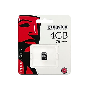 Kingston® SDC4 Class 4 4GB microSDHC Flash Memory Card