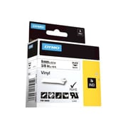 "Dymo® RhinoPro Industrial Label Tape, 0.38""(W) x 18'(L), White"