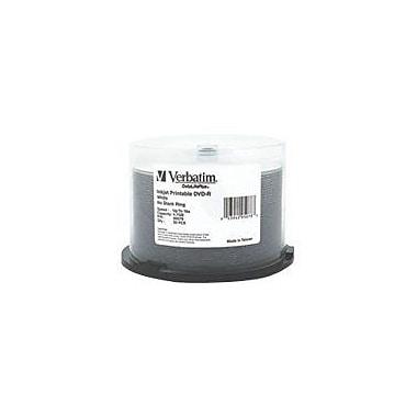 Verbatim® DataLifePlus 4.7GB 16X Inkjet Printable DVD-R, Spindle, 50/Pack