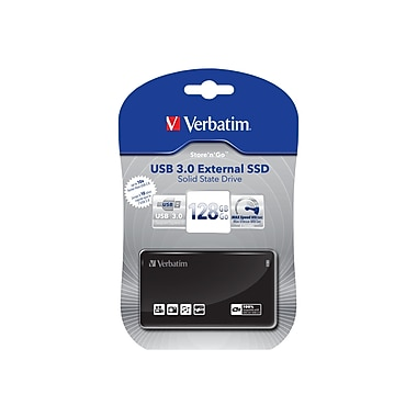 Verbatim USB 3.0 External SSD, 128GB , Black