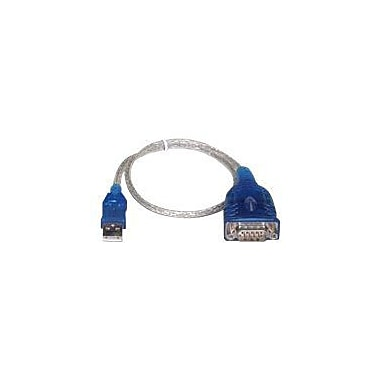 Sabrent 12in. USB 2.0/Serial Male to Male Adapter Cable, Blue